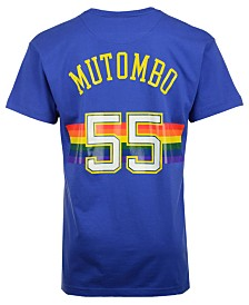 Mitchell & Ness Men's Dikembe Mutombo Denver Nuggets Hardwood Classic Player T-Shirt