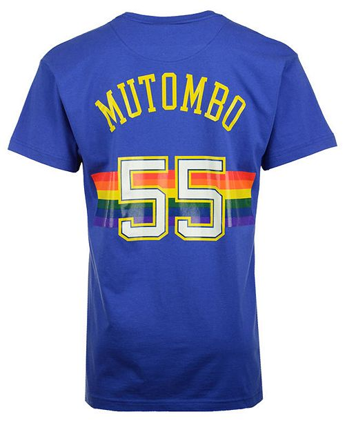 new product 25606 54b4a Men's Dikembe Mutombo Denver Nuggets Hardwood Classic Player T-Shirt