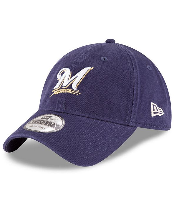 New Era Milwaukee Brewers On Field Replica 9TWENTY Fitted Cap