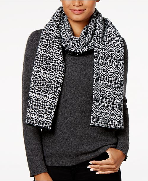 Charter Club Fair Isle Reversible Scarf, Created for Macy's
