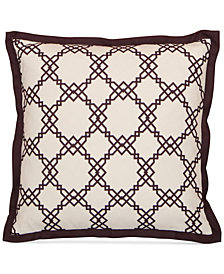 "LAST ACT! Hallmart Collectibles Purple Geo-Print 20"" Square Decorative Pillow"