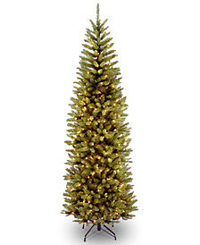National Tree Company 7' Kingswood Fir Pencil Tree With 250 Dual Color® LED Lights & PowerConnect™