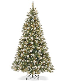 7.5' Feel Real® Frosted Alaskan Pine Hinged Tree With 550 Clear Lights