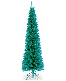 6' Turquoise Tinsel Tree With Metal Stand