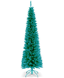 National Tree Company 6' Turquoise Tinsel Tree With Metal Stand