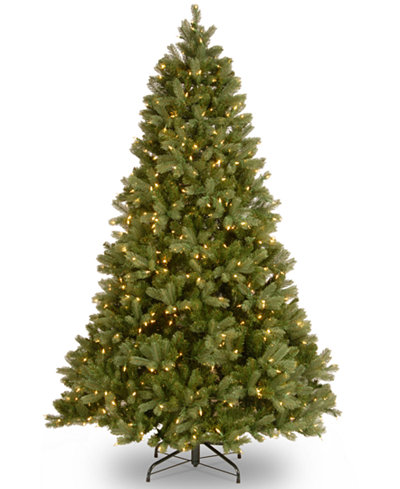 national tree company 75 feel real downswept douglas fir hinged tree with 750 dual - Buy Christmas Tree Online