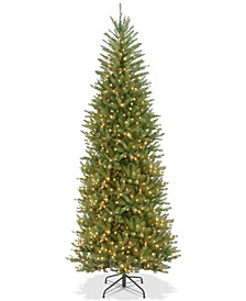 9' Dunhill® Fir Slim Tree With 800 Clear Lights