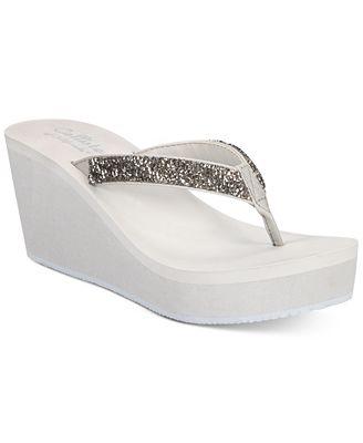 Callisto Hayden Thong Platform Wedge Sandals Women's Shoes
