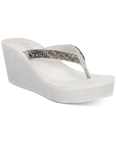 Callisto Hayden Thong Platform Wedge Sandals