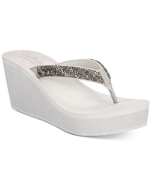Callisto Hayden Thong Platform Wedge Sandals Women's Shoes WdkbXK6J