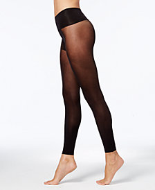 HUE® Women's Flat-tering Fit Opaque Footless Tights