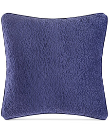 "CLOSEOUT! Tracy Porter Reversible Velvet Quilted 20"" Square Decorative Pillow"