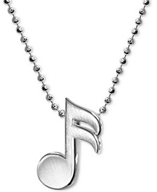 Music Note Necklace in Sterling Silver