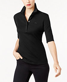 Lacoste Elbow-Sleeve Polo Shirt
