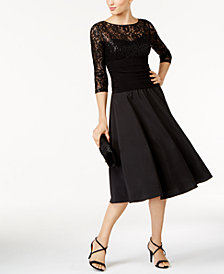 Jessica Howard Sequined Fit & Flare Dress