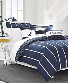 Nautica Knots Bay Cotton Reversible 3-Pc. King Duvet Cover Set