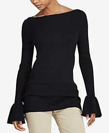Lauren Ralph Lauren Ruffled Boat-Neck Sweater