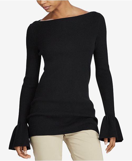 Lauren Ralph Lauren Ruffled Boat-Neck Sweater   Reviews ... 3258074d5