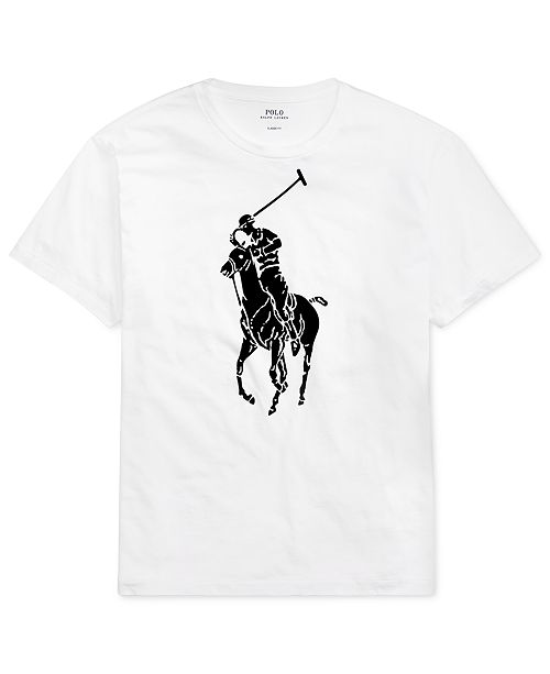 728c87ef0 Polo Ralph Lauren Men's Classic-Fit Big Pony T-Shirt & Reviews - T ...