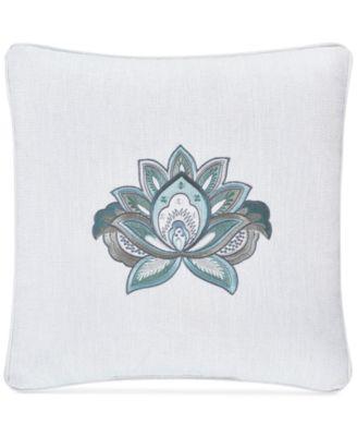 """Atrium Embroidered 18"""" Square Decorative Pillow"""
