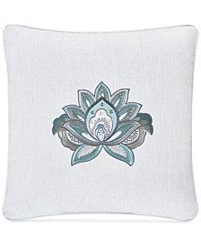 "J Queen New York Atrium Embroidered 18"" Square Decorative Pillow"