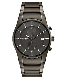 Kenneth Cole New York Men's Gunmetal Stainless Steel Bracelet Watch 41mm