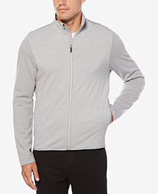 Perry Ellis Men's Bird's Eye Full-Zip Jacket