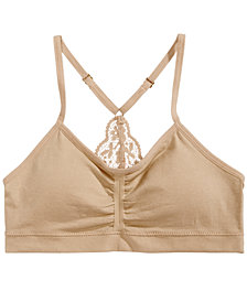 Maidenform Lace-Back Ruched Seamless Crop Bra, Little Girls & Big Girls