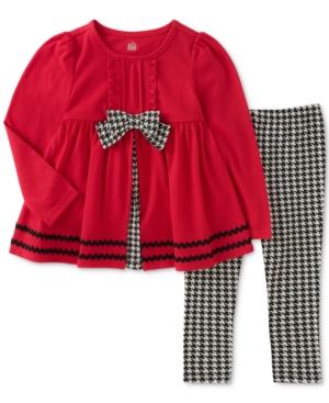 Kids Headquarters 2Pc Houndstooth Tunic  Leggings Set Little Girls (46X)