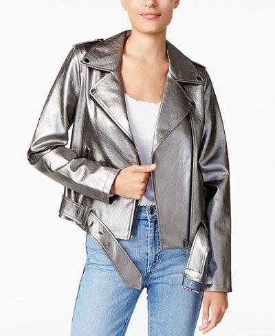 GUESS Metallic Moto Jacket