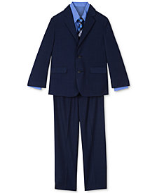 Nautica 4-Pc. Suit Jacket, Pants, Shirt & Plaid Tie Set, Little Boys