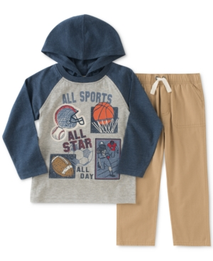 Kids Headquarters 2Pc Sports GraphicPrint Hooded Shirt  Pants Set Toddler Boys (2T5T)