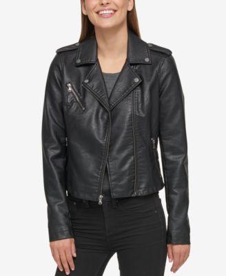Levi's womens leather moto jacket