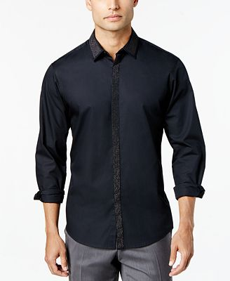 I.N.C. Men's Shine Shirt, Created for Macy's - Casual Button-Down ...