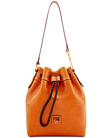 Florentine Hattie Leather Drawstring Bag