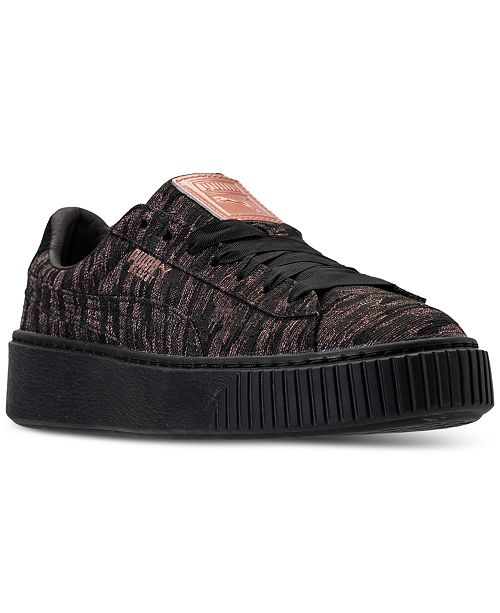 8495541487fe ... Puma Women s Basket Platform Velvet Rope Casual Sneakers from Finish  Line ...