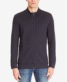 BOSS Men's Reversible Full-Zip Cotton Sweater