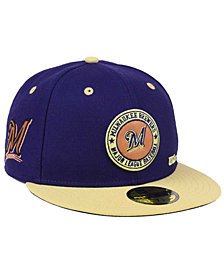 New Era Milwaukee Brewers X Wilson Circle Patch 59FIFTY Fitted Cap