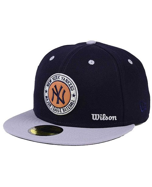 6a12f6ed70157 ... New Era New York Yankees X Wilson Circle Patch 59FIFTY Fitted Cap ...
