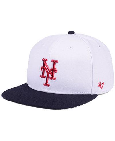 '47 Brand New York Mets Firework CAPTAIN Cap