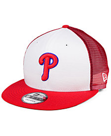 New Era Philadelphia Phillies Old School Mesh 9FIFTY Snapback Cap