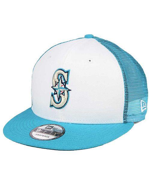 New Era Seattle Mariners Old School Mesh 9FIFTY Snapback Cap