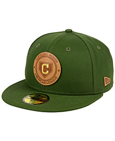 New Era Cleveland Indians Vintage Olive 59FIFTY Fitted Cap