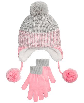 Berkshire 2-Pc. Ombré Heidi Hat & Gloves Set, Little Girls & Big Girls