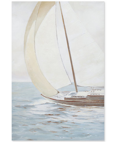JLA Sail Away Knife Palette Paint Canvas, Quick Ship