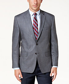 Lauren Ralph Lauren Men's Classic-Fit Gray Micro-Check Ultraflex Sport Coat