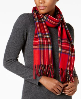 Classic Plaid Woven Scarf