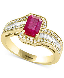 Amoré by EFFY® Certified Ruby (1 ct. t.w.) & Diamond (1/2 ct. t.w.) Ring in 14k Gold