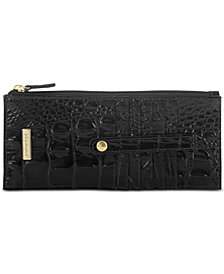 Brahmin Melbourne Credit Card Embossed Leather Wallet