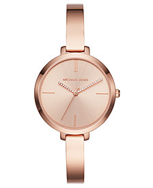 Michael Kors Women's Jaryn Rose Gold-Tone Stainless Steel Bracelet Watch 36mm